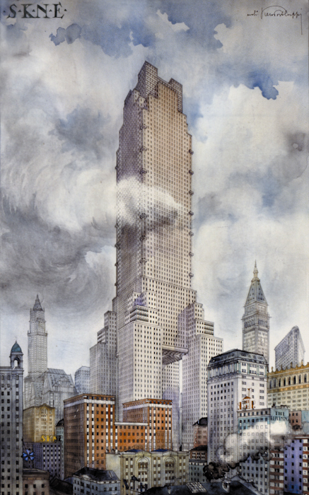 Studio per il grattacielo s k n e for Appartamento grattacielo new york