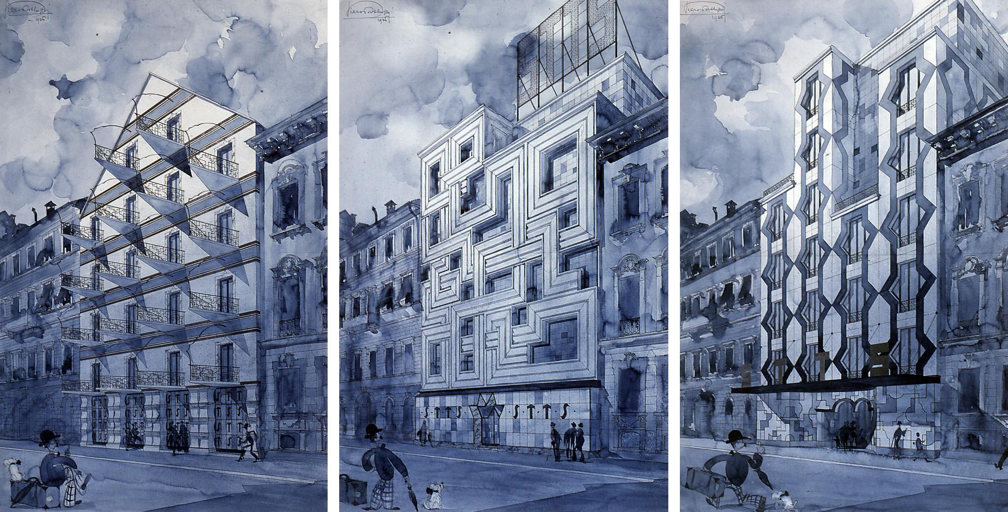 Progetto per l edificio s t t s for Piero portaluppi